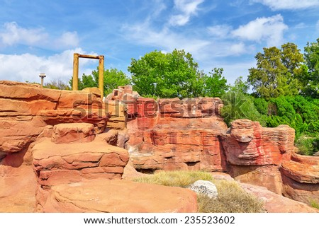 Typical Midwest and Wild west outdoor view.  - stock photo