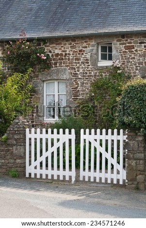 Typical Normandy house - stock photo