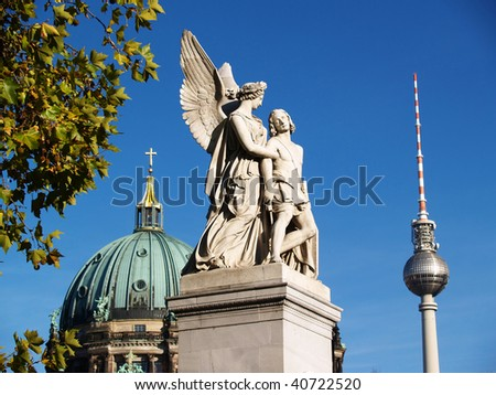 Typical old Berlin view (Schlossbruecke to Museum Island) - stock photo