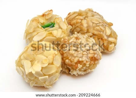 Typical Oriental Pastries with honey and nuts