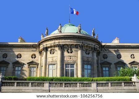 Typical Parisian building, Paris, france - stock photo