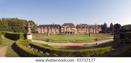 Typical rococo castle Dobris in Czech republic - stock photo
