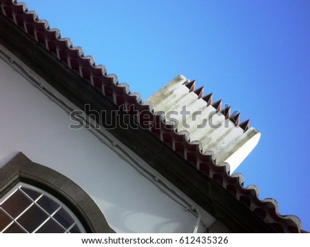 typical roof of the Portuguese houses