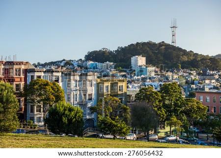 Typical San Francisco Neighborhood, California - stock photo