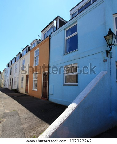 Typical Seaside cottages in Weymouth Dorset England