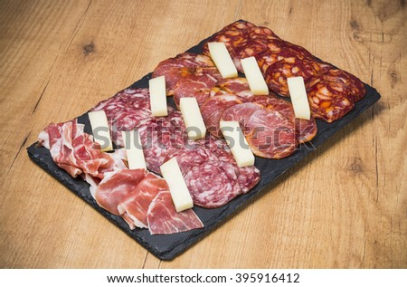 Typical spanish food - stock photo