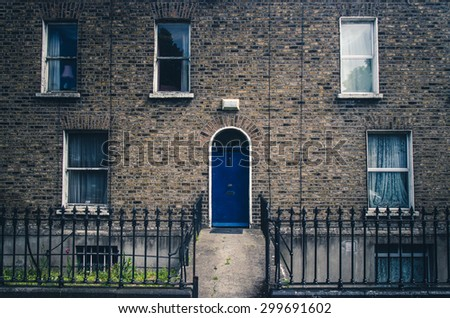 typical street in Dublin, Ireland - stock photo