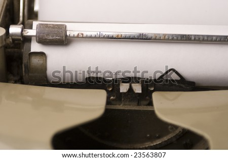 Typing love letter on old typewriter - stock photo