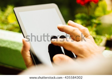 Typing on the tablet