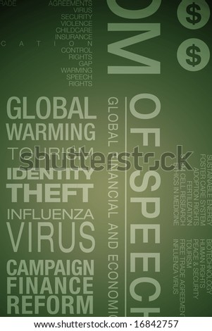 typographic image of political and legal issues