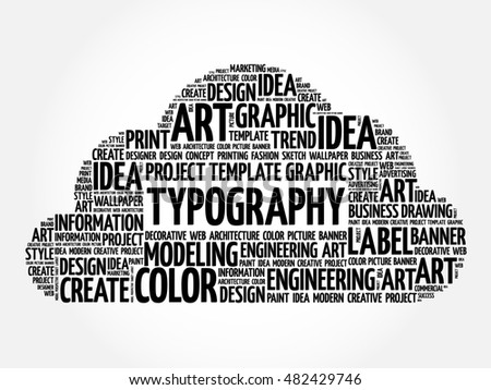 TYPOGRAPHY word cloud, creative business concept background