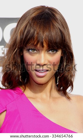 Tyra Banks at the 2011 VH1 Do Something Awards held at the Palladium Hollywood in Los Angeles, California, United States on August 14, 2011.