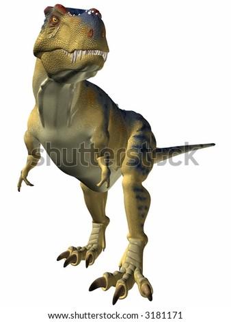 Tyrannosaurus-Alert - stock photo
