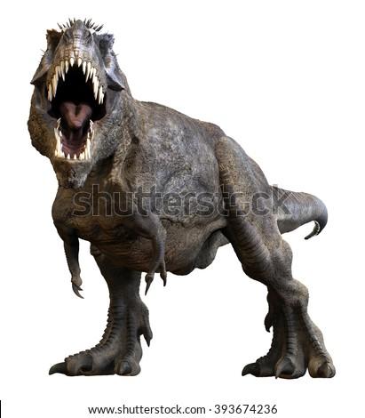 Tyrannosaurus Rex 3D render. - stock photo