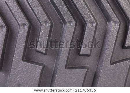 Tyre isolated as a whole background closeup - stock photo