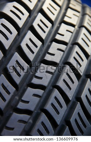 Tyre tread, pattern and texture.