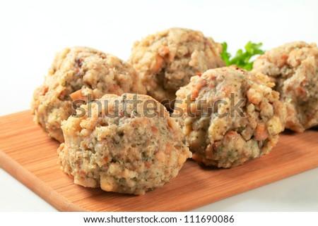 Bread-and-bacon Dumplings