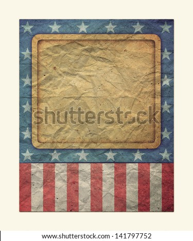 U.S.A. Flag for July 4th, Labor Day for Vintage - stock photo