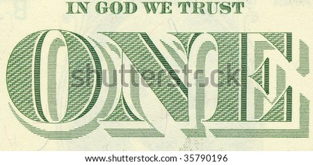 U.S. banknote detail (high definition) - stock photo
