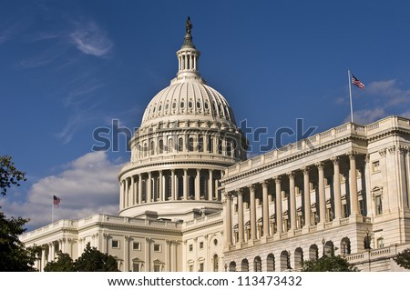 U.S. Capital Building in Washington D.C. - stock photo