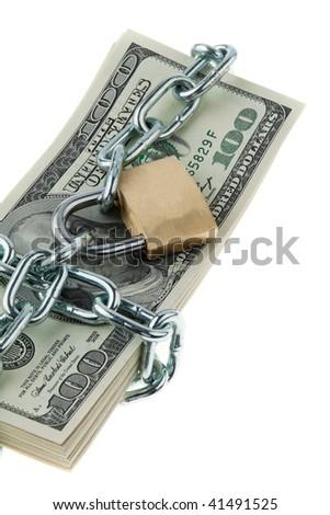 U.S. dollars banknotes - stock photo