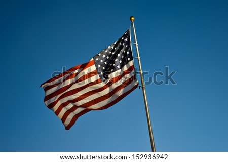 U.S. flag 01 - stock photo