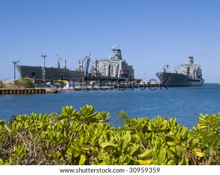 U.S.S. Missouri, a warship located at Pearl Harbor, Hawaii