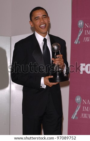 U.S. Senator BARACK OBAMA at the 36th Annual NAACP Image Awards in Los Angeles. March 19, 2005: Los Angeles, CA.  Paul Smith / Featureflash - stock photo