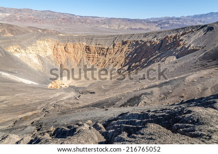 Ubehebe Crater in Death Valley National Park, California - stock photo