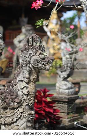 Ubud Palace. Bali. Indonesia - stock photo