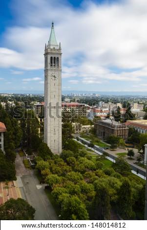 UC Berkeley Campanile Esplanade - stock photo