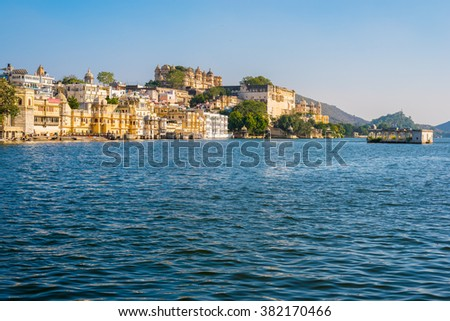 Udaipur old town - stock photo