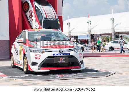 Udonthani,Thailand   October 17 18, 2015: Toyota Racing Car On Display