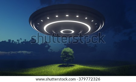 Ufo over nature