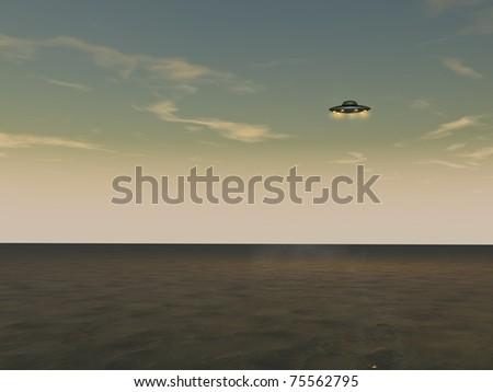 UFO - Unidentified Flying Object - stock photo
