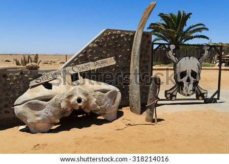 Ugabmund gate at Skeleton Coast National Park, Namibia - stock photo