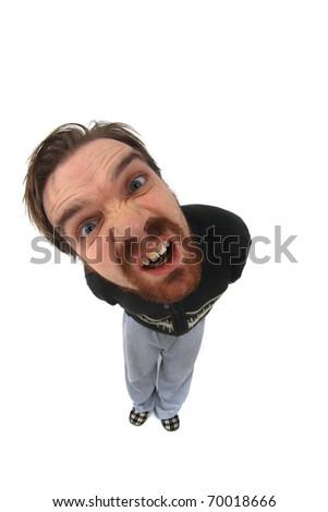 ugly man - stock photo