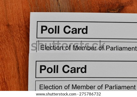 Uk election polling cards - stock photo