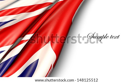 UK flag on white background - stock photo