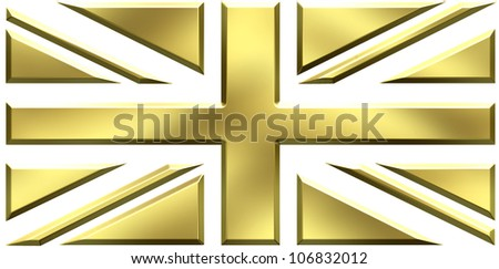 UK gold flag - stock photo