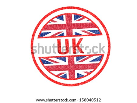 UK Rubber Stamp over a white background. - stock photo