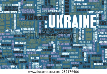 Ukraine as a Country Abstract Art Concept