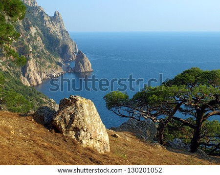 Ukraine. Crimea. Coast of the Black Sea.