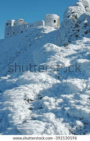 Ukraine, Eastern Carpathians, Chornogora Ridge,the Observatory - stock photo