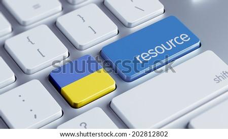 Ukraine High Resolution Resource Concept - stock photo