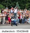 UKRAINE, KIEV - MAY 29: Bikers meeting and show on Kiev City Day. May 29, 2010 in Kiev, Ukraine. - stock photo