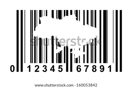 Ukraine shopping bar code isolated on white background.