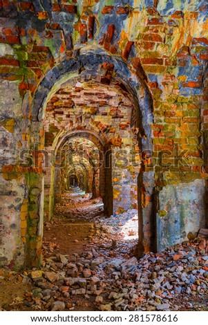 ukraine, tarakanov fortress ruin - stock photo