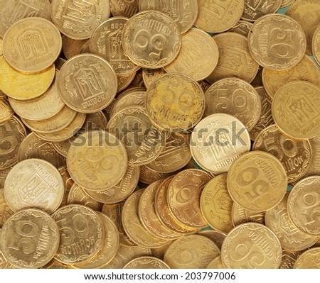 Ukrainian coins set - stock photo