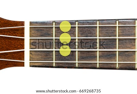 Ukulele Chord G Major 7 Gm Stock Photo 100 Legal Protection